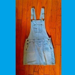 Dresses & Skirts - Light Denim Overall Mini-Skirt